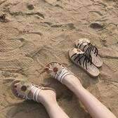 網紅平底涼鞋女夏季新款仙女風簡約百搭潮兩穿羅馬鞋 - 風尚3C