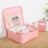 化妝包 ins化妝包小號便攜簡約大容量化妝袋少女心洗漱品收納盒 9色