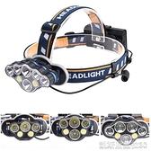 頭燈亞馬遜爆款6LED頭燈T6 COB遠射頭戴式手電 USB充電戶外強光頭燈 【快速出貨】