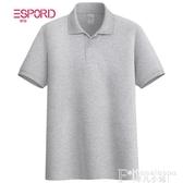 熱銷中年POLO衬衫純色短袖polo衫男士寬鬆半袖翻領t恤老中年休閒爸爸裝夏季保羅衫