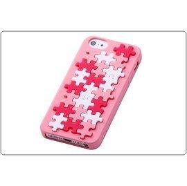 ☆愛思摩比☆Ray-out for iPhone5/5S專用幾何花紋矽膠套《拼圖-粉色》RT-P5C12/PP-特價商品恕不退換貨