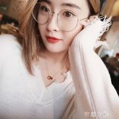 簡約鎖骨鍊韓國短款玫瑰金女士項鍊時尚款女新款吊墜脖子飾品      芊惠衣屋