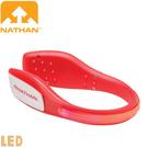 【NATHAN 美國 防水LED鞋環 紅】NA5072NTD/亮燈閃爍/LED/警示燈/健行/安全手環/自行車