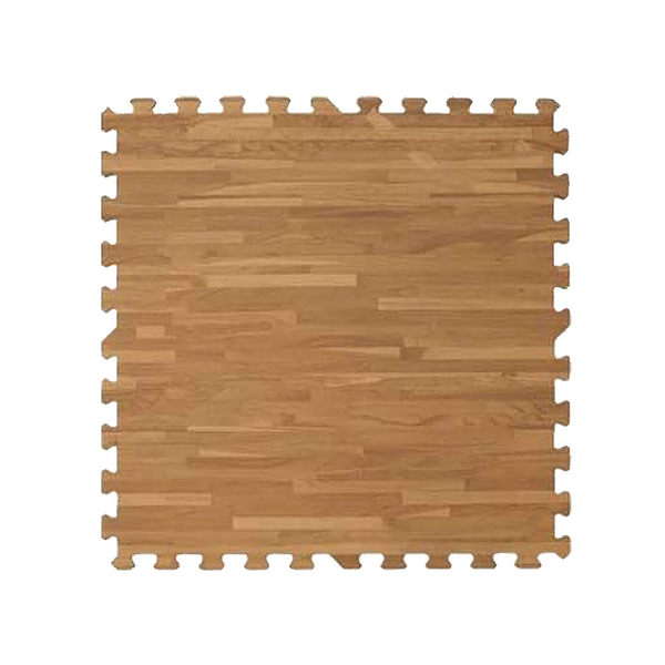 【新生活家】耐磨拼花木紋地墊-深色62x62x1.4cm 4入