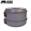 【RHINO 犀牛 K-5 犀牛5人鋁合金套鍋】K-5/露營炊具/登山鍋具/野炊/摺疊鍋/套鍋