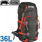 Rhino 犀牛牌 R236暗灰/紅 36L透氣網架登山背包 健行背包/多功能後背包/運動背包/休閒背包 東山戶外