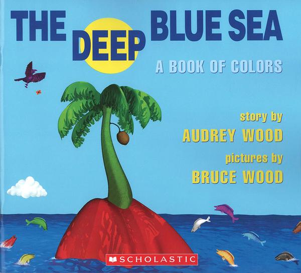 【麥克書店】THE DEEP BLUE SEA BOOK OF COLORS/ 平裝繪本《主題: 基礎認知  顏色》