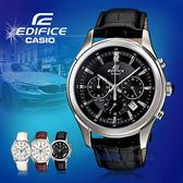 CASIO 卡西歐 手錶專賣店 EDIFICE EFR-517L-1A 男錶 真皮錶帶 礦物玻璃/玻璃球 防水 日期 秒錶 真皮