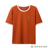 【GIORDANO】女裝清新水果刺繡短袖T恤-30 夕陽紅