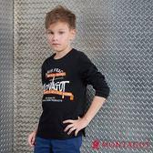 童裝男童字母T恤 夢特嬌 黑色 130-150cm