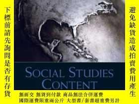 二手書博民逛書店Social罕見Studies Content For Elementary And Middle School