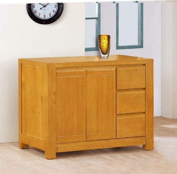 【新北大】✪ L7274-2 紐西蘭松木實木4尺餐櫃/碗碟櫃-18購