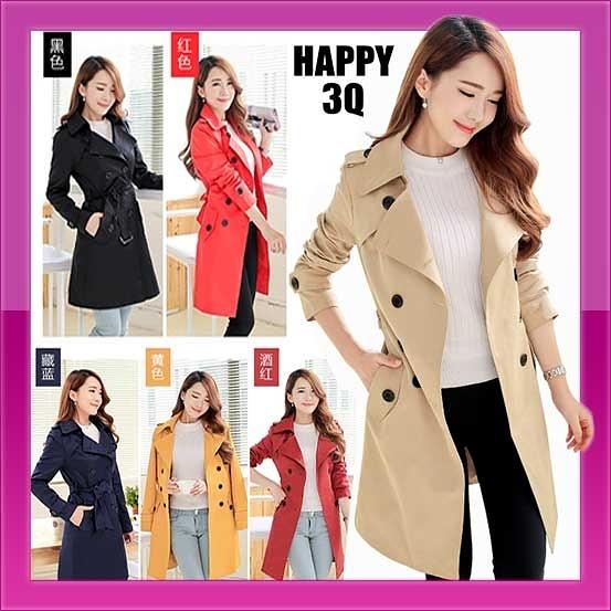 優雅收腰大尺碼修身雙排釦英倫多層次時尚大衣外套-多色S-5L【AAA0843】預購