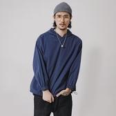 長袖T恤-連帽純色百搭冬季新品男上衣73pr42【巴黎精品】
