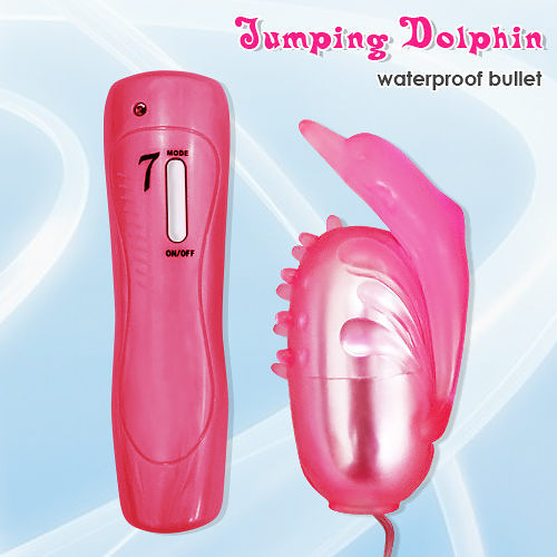 按摩棒 情趣用品 Jumping Dolphin 海豚造型G點七段變頻防水震蛋 +潤滑液1包