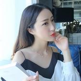 日韓新款珍珠人工鋯石項鏈女2019時尚氣質新娘結婚飾品鎖骨鏈首飾生日禮物 JA9738『科炫3C』