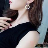 網紅925銀針水鉆長款耳環氣質百搭耳墜耳釘女【聚可愛】