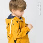 男童沖鋒風衣外套寶寶童裝兒童3歲1小童潮女 伊衫風尚
