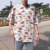 短袖T恤 - 休閑短袖套頭小清新T恤衫情侶百搭上衣【韓衣舍】