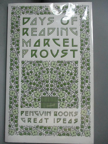【書寶二手書T4/翻譯小說_NCX】Days of Reading_Proust, Marcel/ Sturrock,