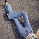 喇叭褲垂感牛仔喇叭褲女秋2019新款高腰顯瘦長褲闊腿韓版復古港風微喇褲 伊羅鞋包