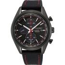 SEIKO 精工 喬治亞羅設計三眼計時太陽能腕錶 V176-0BH0C SSC777P1