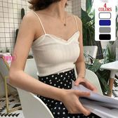 木耳邊性感針織吊帶女(4色)外穿內搭織背心AF1021