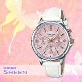 CASIO 手錶專賣店 CASIO SHEEN SHE-3047L-4B_施華洛 世奇_三眼_日/星期_女錶