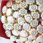 婚禮小物 幸運草.棉花糖花束(50支入) -二次進場/創意宴客糖果/結婚用品 幸福朵朵