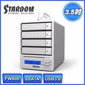 [富廉網] STARDOM SR4-WBS3+ USB3.0/eSATA/FW800 4bay 3.5吋磁碟陣列設備(和順電通)