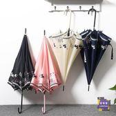 直立傘 日系小清新長柄傘雨傘可愛女生創意貓咪防風晴雨傘韓國學生自動傘T 4色