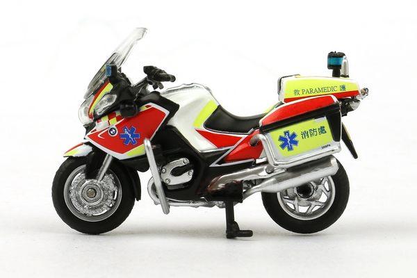 Poco+玩具部 全新 微影 TINY 香港合金車 88 香港消防處 BMW 寶馬 EMA MC 電單車 機車