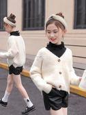 女童毛衣 女童開衫新款韓版秋裝薄款針織衫兒童裝秋大童洋氣毛衣外套 俏腳丫