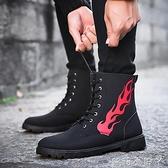 馬丁靴冬季男士韓版靴子男百搭休閒男靴潮流高筒工裝鞋皮靴雪地靴 蘿莉小腳ㄚ