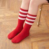 【8:AT 】運動長筒襪(簡約紅) (未滿2件恕無法出貨,退貨需整筆退)