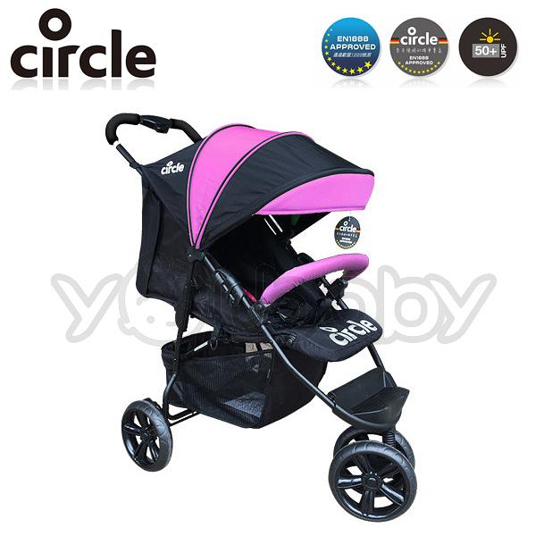 Circle Treviso 3S 德式三輪單向嬰兒手推車 -粉