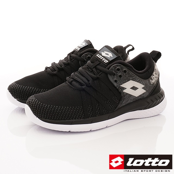 【LOTTO】花漾雙密度跑鞋-LT8AWR6820-黑灰-女段-0