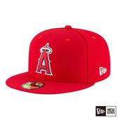 NEW ERA 59FIFTY 5950 MLB 球員帽 天使 紅