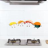 ◄ 生活家精品 ►【Q156】透明卡通圖防油貼紙 廚房 牆面 抽屜 桌面 灶台 耐高溫 自黏貼紙 瓷磚