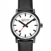 MONDAINE 瑞士國鐵evo2腕錶 – 40mm / 白x黑框 40111LB