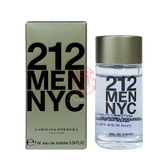 CAROLINA HERRERA 212 男性淡香水 7ML【岡山真愛香水化妝品批發館】