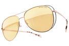 MICHAEL KORS 水銀太陽眼鏡 MK1024 11757J (玫瑰金) 時尚大框飛官黃水銀款 # 金橘眼鏡