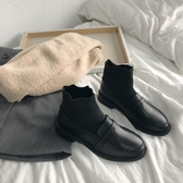 彈力襪靴女新款春秋單靴學生韓版百搭平底馬丁靴ins潮短靴子