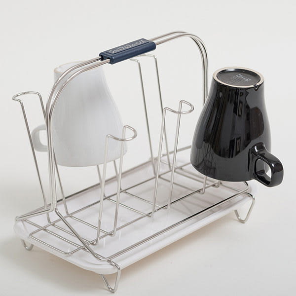 收納架 杯架 瀝水【D0007】不鏽鋼六杯架(白美奈盤)/可放水杯/MIT台灣製 完美主義