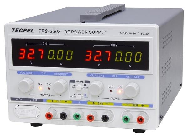 泰菱電子◆ TPS-3303 三通道線性電源供應器 TECPEL