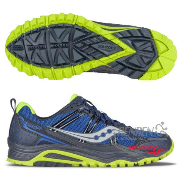 SAUCONY 男慢跑鞋 TR 10 (藍灰) 越野跑步鞋 S25301-4【 胖媛的店 】