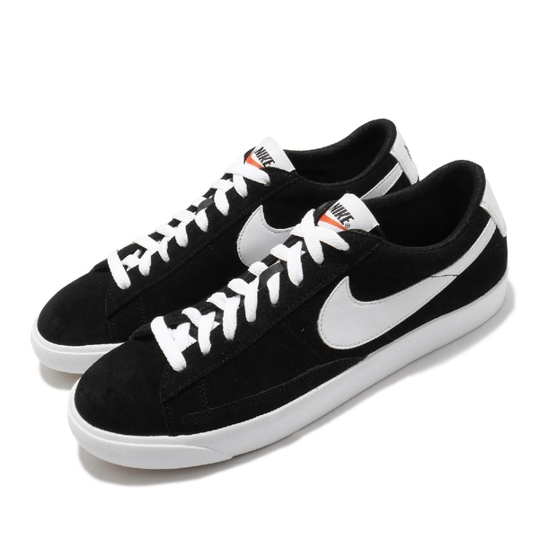 Nike 休閒鞋 Blazer Low PRM VNTG Suede 白 黑 男鞋 女鞋 麂皮 運動鞋 【ACS】 538402-004