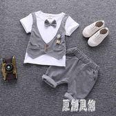 花童禮服男童韓版短袖小西裝套裝夏季西裝4兒童時尚兩件套1歲3 LJ4293【原創風館】