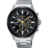 SEIKO Criteria 台灣限定太陽能計時碼錶-黑X金圈