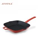 ATHENA手柄鑄鐵琺瑯鍋 牛排鍋 牛排煎鍋 28*28cm